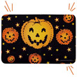 Fiber Optic Pumpkin Door Mat