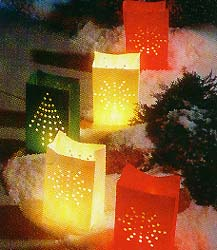 White solid luminary sleeves electric rc no diecut ebay for Reusable luminaries
